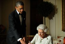 Obama and the Queen at Winfield House in London on May 25 2011 Image GETTY