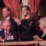 Prince Charles and Camilla looked to be enjoying the performances Photo C GETTY