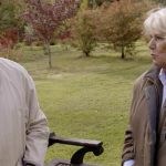 Prince Charles and Camilla walking among the trees planted for Prince George Image BBC