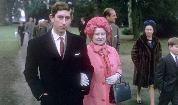 Prince Charles had a close relationship with his grandmother which blossomed from a very young age Image Getty