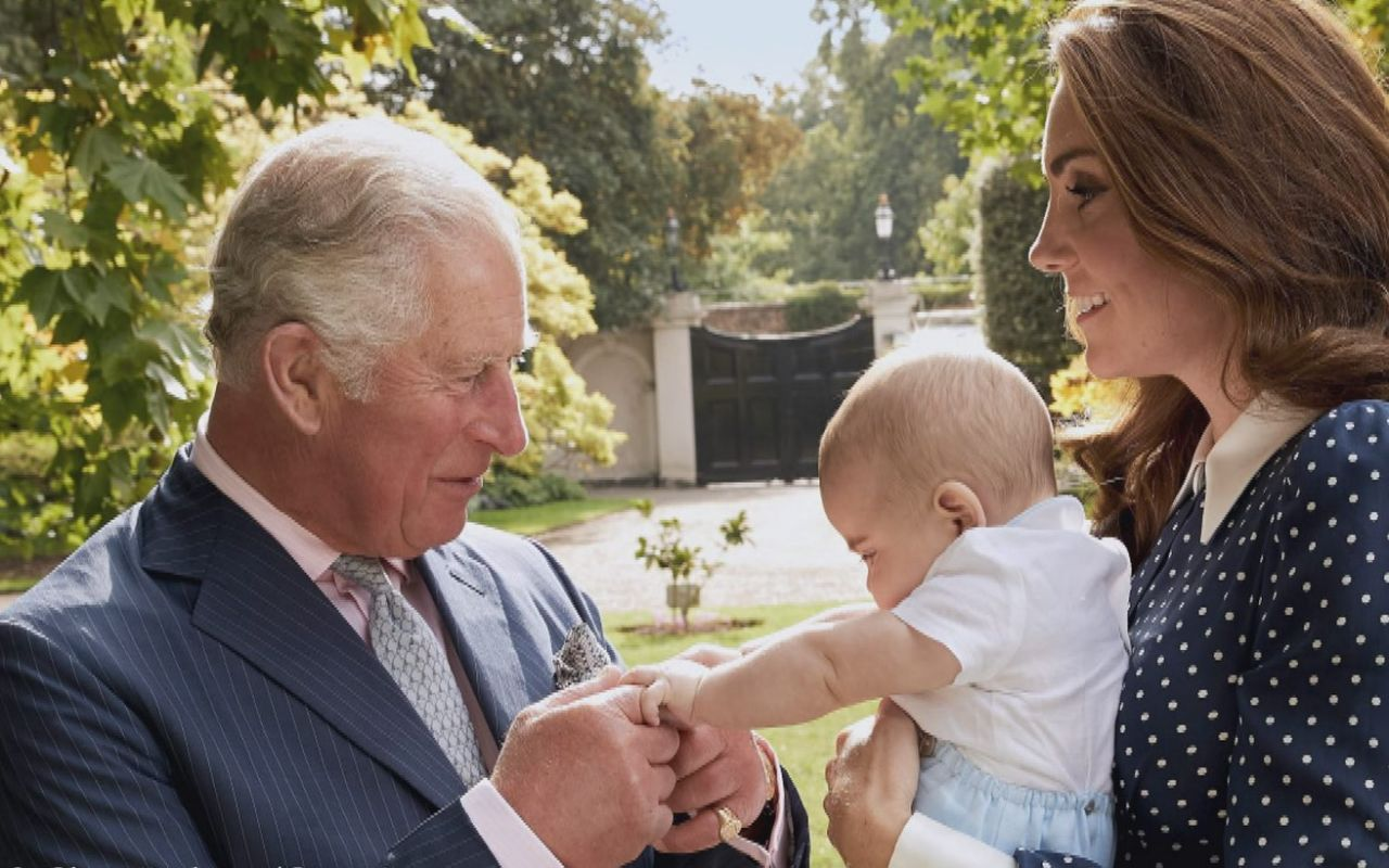 Prince Charles dotes on Prince Louis in a new photo released by Buckingham Palace Source Chris Jackson Getty Images via Buckingham Palace