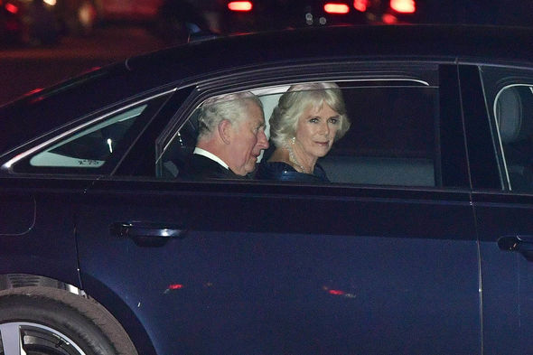 Prince Charles has arrived at Buckingham Palace with Camilla for his 70th birthday party Image PA