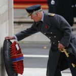 Prince Charles laid the wreath at Remembrance Day in London last year Source Getty