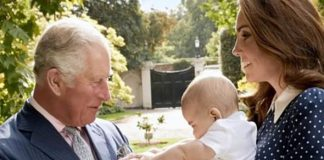 Prince Charles playing with Prince Louis Image GETTY CHRIS JACKSON