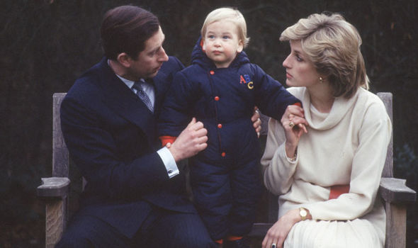 Prince Charles with Prince William and Princess Diana Image GETTY