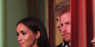 Prince Harry and Meghan watched the evenings entertainment from the royal box Photo C GETTY