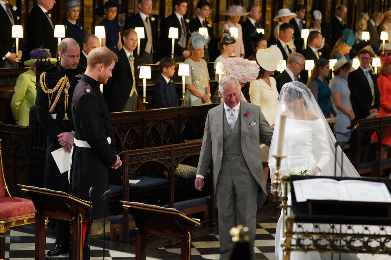 Prince Harry opened up on the moment he asked his father Prince Charles to walk his future wife Meghan Markle down the aisle Photo Getty Images