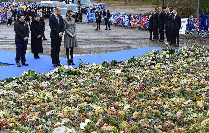 Prince William and Kate Middleton pay respect to Leicester City owner Vichai Srivaddhanaprabha Photo C GETTY IMAGES 04