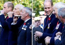 Prince William had his throat burnt during this mornings Submariners Remembrance Service Image GETTY