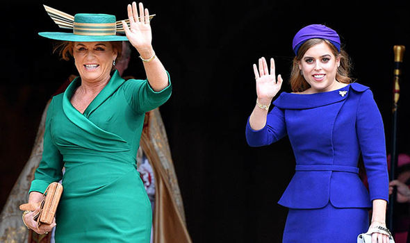 Princess Beatrice waves to well wishers outside Windsor Castle ahead of Princess Eugenies wedding Image Pool Max Mumby Getty Images