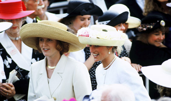 Sarah Ferguson has admitted she was upset Diana couldnt see Eugenie get married Image GETTY