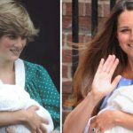 Princess Diana in 1981 and Kate in 2013 Image GETTY