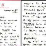 Princess Diana responded to a womans distressing letter in 1995 Image Juliens Auctions BNPS