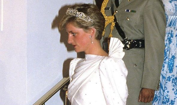 Princess Diana wearing the dress in 1986 Image Anwar Hussein Getty Images