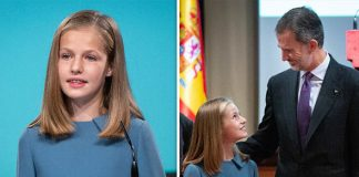 Princess Leonor gave her first public speech today as her father King Felipe watched proudly Image GETTY
