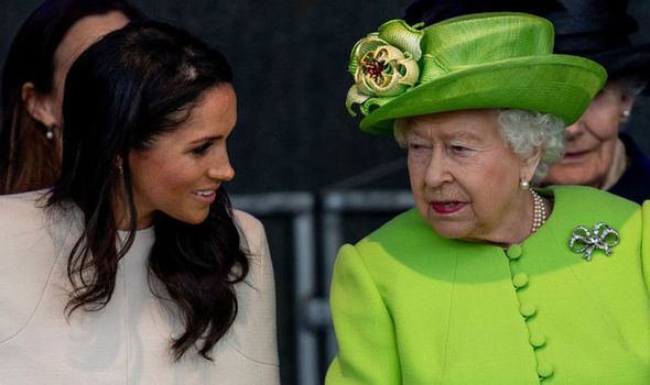 Queen Elizabeth II news Meghan Markle and Prince Harry are expecting their first child next year Image GETTY