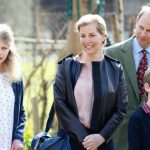 Queen Elizabeth grandchildren Lady Louise Windsor and James Viscount Severn with their parents Image GETTY