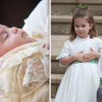 Queen Elizabeth great grandchildren Prince Louis L and Prince George and Princess Charlotte R Image GETTY
