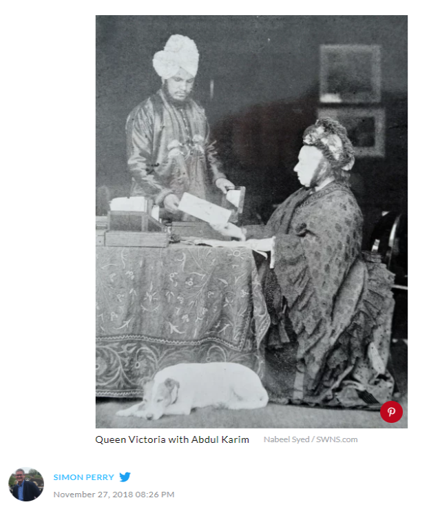 Queen Victoria with Abdul Karim 1