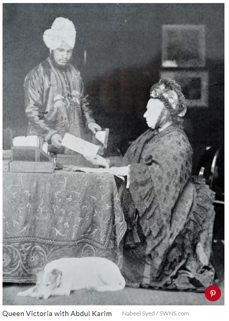 Queen Victoria with Abdul Karim
