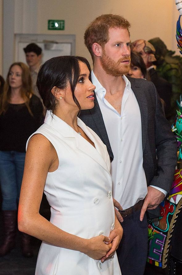 ROYAL BABY Meghan and Harry have been on a tour of Oceania Image GETTY