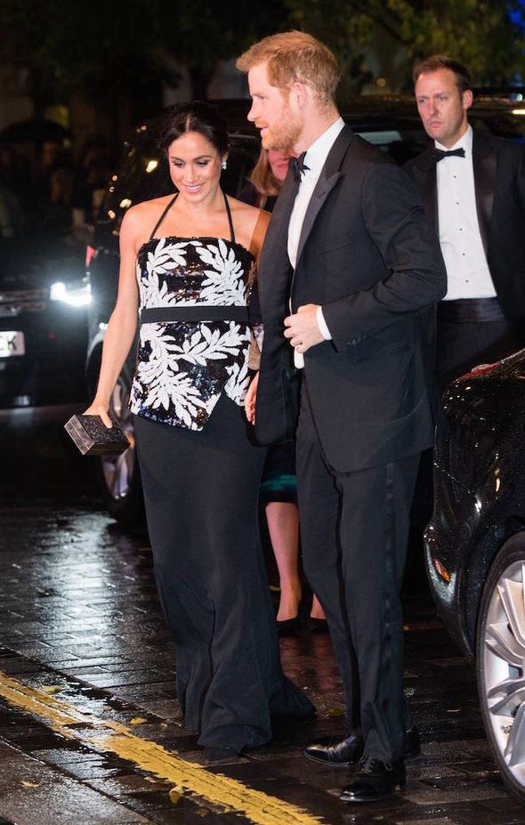 Royal news Meghan Markle channelled Princess Diana at the Royal Variety show on Tuesday Image GETTY
