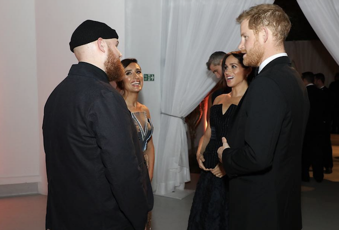 Royal news Hary and Meghan enjoy a discussion with musician Tom Walker Image INSTAGRAM IAMTOMWALKER