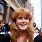 Sarah pictured shortly after her engagement to Andrew was announced in March 1986 Image GETTY