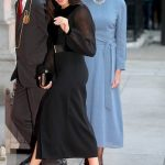 Sept The following month in September Meghan looked sensational in a long sleeved black dress by Givenchy Photo C GETTY IMAGES