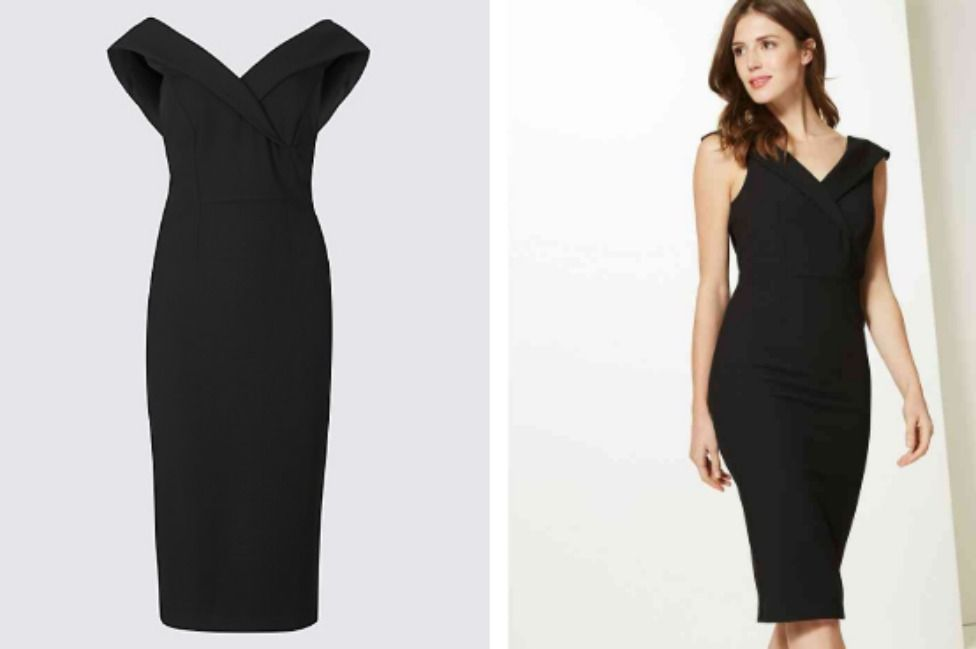 She chose this chich 85 bodycon available from British retailer Marks Spencer Photo C MarksAndSpencer