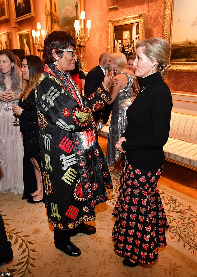 Sophie 53 also spent time speaking to the iconic model and fashion designer BiBi Russell who looked typically zany in an applique coat