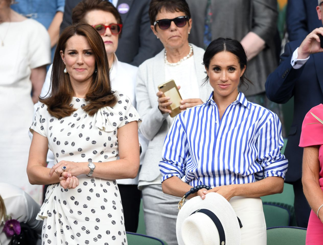 Tension may be due to the fact Kate Middleton and Meghan Markle supposedly don't get along Source Getty