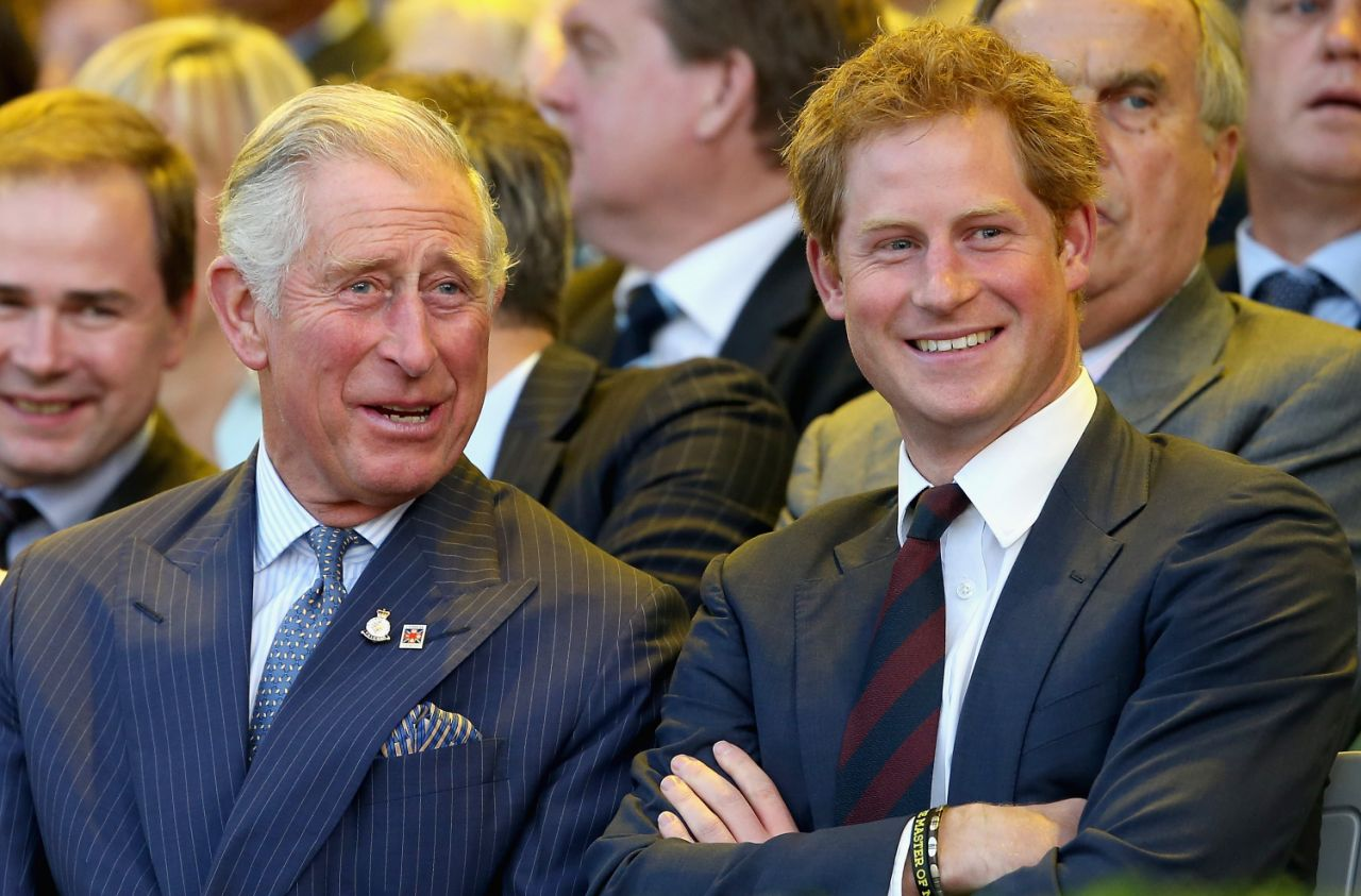 The 34 year old Duke of Sussex was apparently picked on at school over an adorable habit he picked up from his dad Prince Charles Photo Getty Images