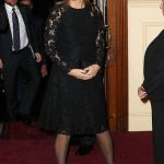 The Countess of Wessex looked elegant as she arrived at the Royal Albert Hall wearing a black knee length dress Photo C GETTY IMAGES