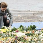 The Duchess of Cambridge lays floral tributes for the Leicester helicopter crash victims Image Samir Hussein WireImage