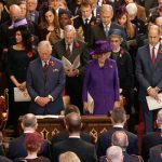 The Duchess of Cornwall was pictured in the outfit and matching hat Image BBC