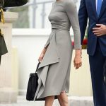 The Duchess of Sussex has been showing off her baby bump ever since it was announced in October that she is expecting Photo C GETTY IMAGES