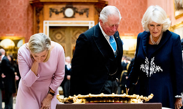 The Duke and Duchess of Cornwall with the Dutch royals Image GETTY