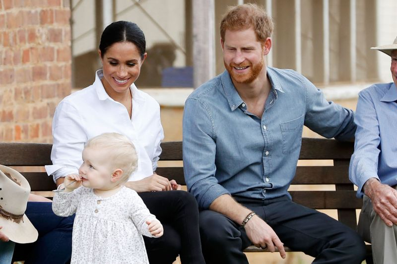 The Duke and Duchess of Sussex here in Dubbo on their recent tour of Australia are reportedly determined not to spoil their child Source Getty