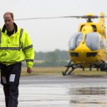 The Prince flew a H 145 helicopter covering Norfolk Suffolk Cambridgeshire and Bedfordshire Image GETTY
