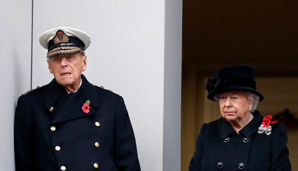 The Queen attended the service with Prince Philip last year Image GETTY