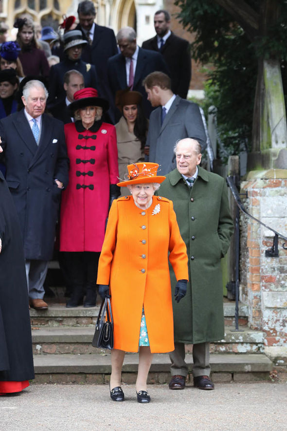 The Queen attends church in the morning on Christmas Day Image GETTY