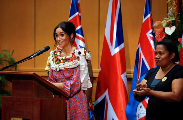 The duchess gave a powerful speech about women's education at the University of the South Pacific Image GETTY