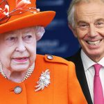 The moment the Queen reacted to Tony Blairs epic blunder at her 50th wedding anniversary Image GETTY