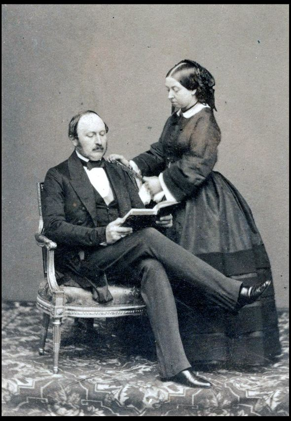 Queen Victoria and Prince Albert and right Wilhelm II Image BNPS