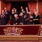 The royal family together in the royal box for the Festival of Remembrance Photo C GETTY