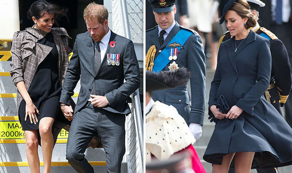 There is a particular reason why both Meghan and Kate wear shorter dresses when pregnant Image Getty