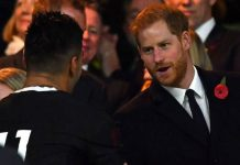 This popular Strictly star was at the rugby with Prince Harry Photo C GETTY