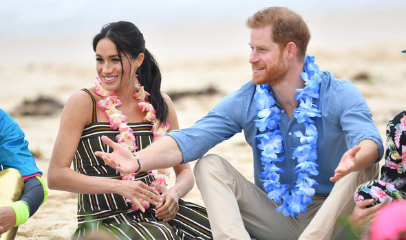 This will be the Duke and Duchess of Sussex's first public appearance in the UK since their tour Image GETTY