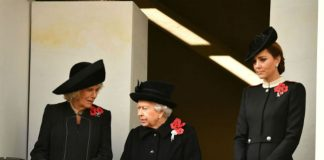 This year Kate Middleton joined the Queen and the Duchess of Cornwall Photo C GETTY